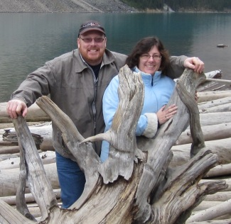 My wife and I at the Canadian Rockies