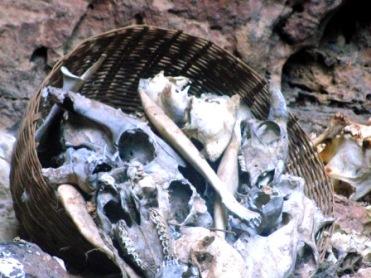 Bones placed in Animistic Religious Ritual