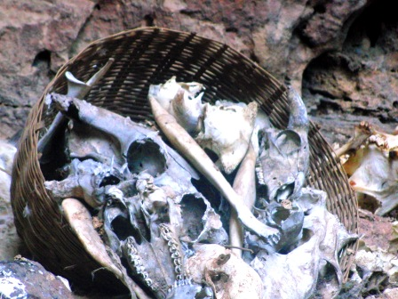 Bones placed in Animistic Religious Ritual