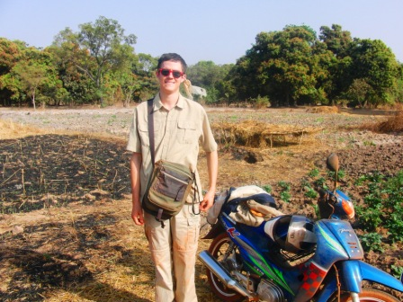 The very day and places described in this story. The shoulder strap you see, is the very travel bag our intern Brent lost in the bush. A mouse in our small house chewed the strap almost completely, but the chewed section got hidden as it slid up inside the leather comfort patch, with only threads left holding the strap together.